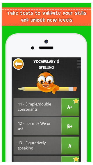 iTooch 5th Grade Language Arts | English worksheets on Vocabulary, Grammar, Reading and Writing App - 2
