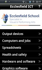 Ecclesfield School GCSE ICT App - 1