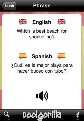 Spanish Talking Phrasebook App - 2