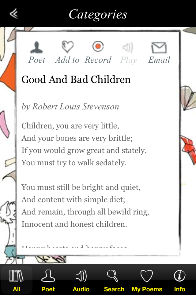 iF Poems for the iPhone App - 4