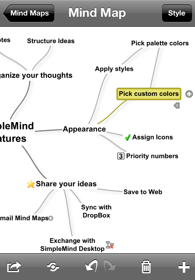SimpleMind for iPad (mind mapping) App - 3