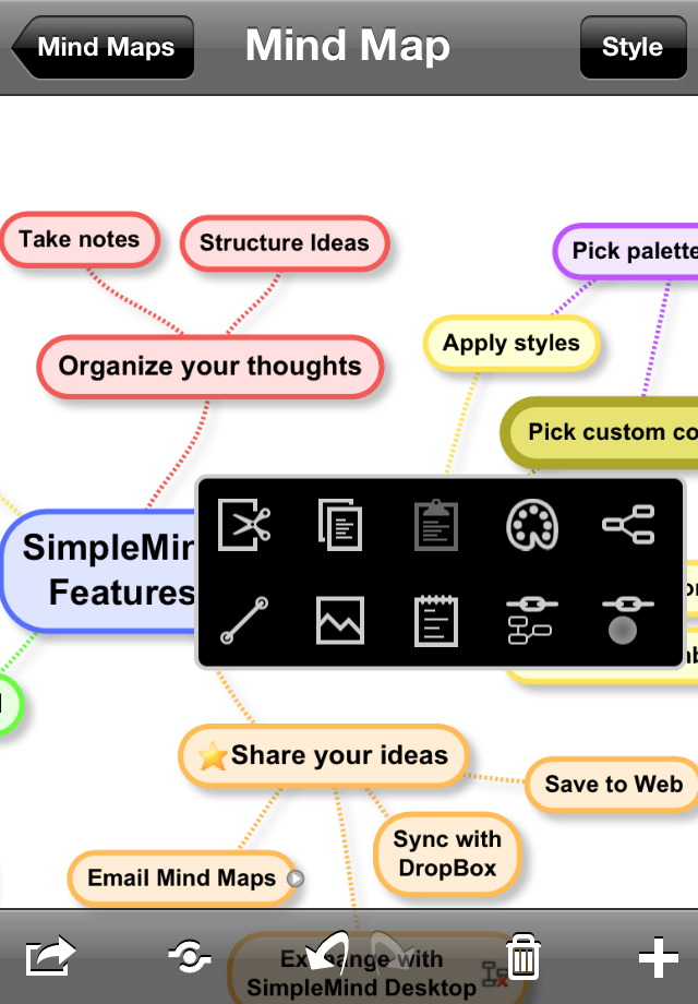 SimpleMind for iPad (mind mapping) App - 4