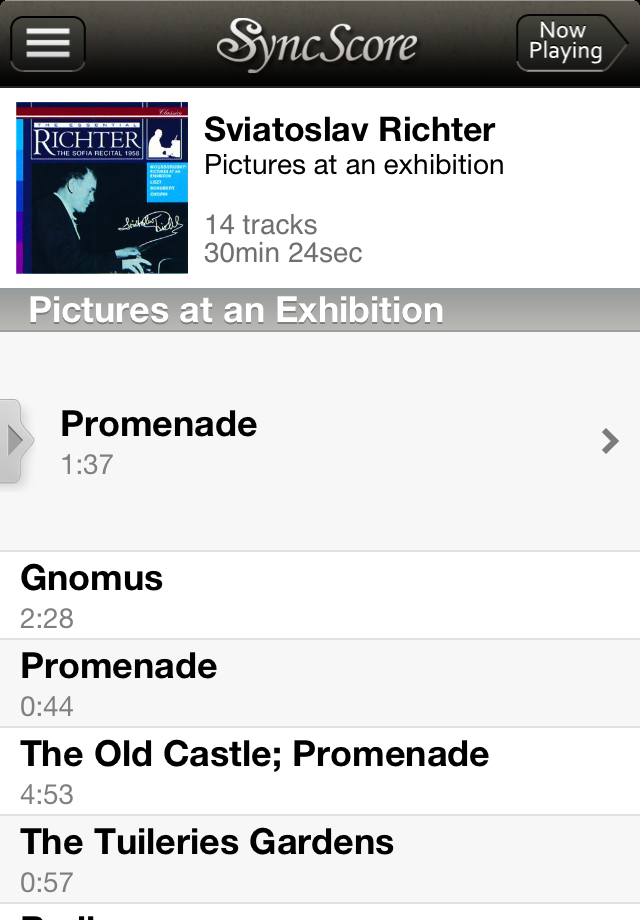 Mussorgsky Pictures at an Exhibition - SyncScore App - 2