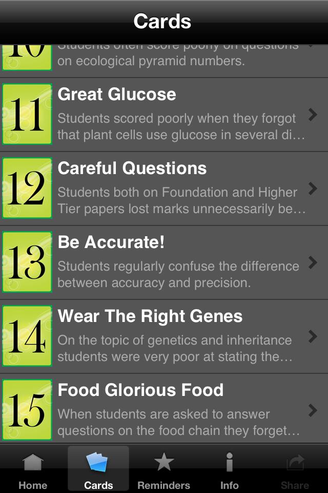 GCSE Biology Banana Skins - Revision Flash Cards App - 2