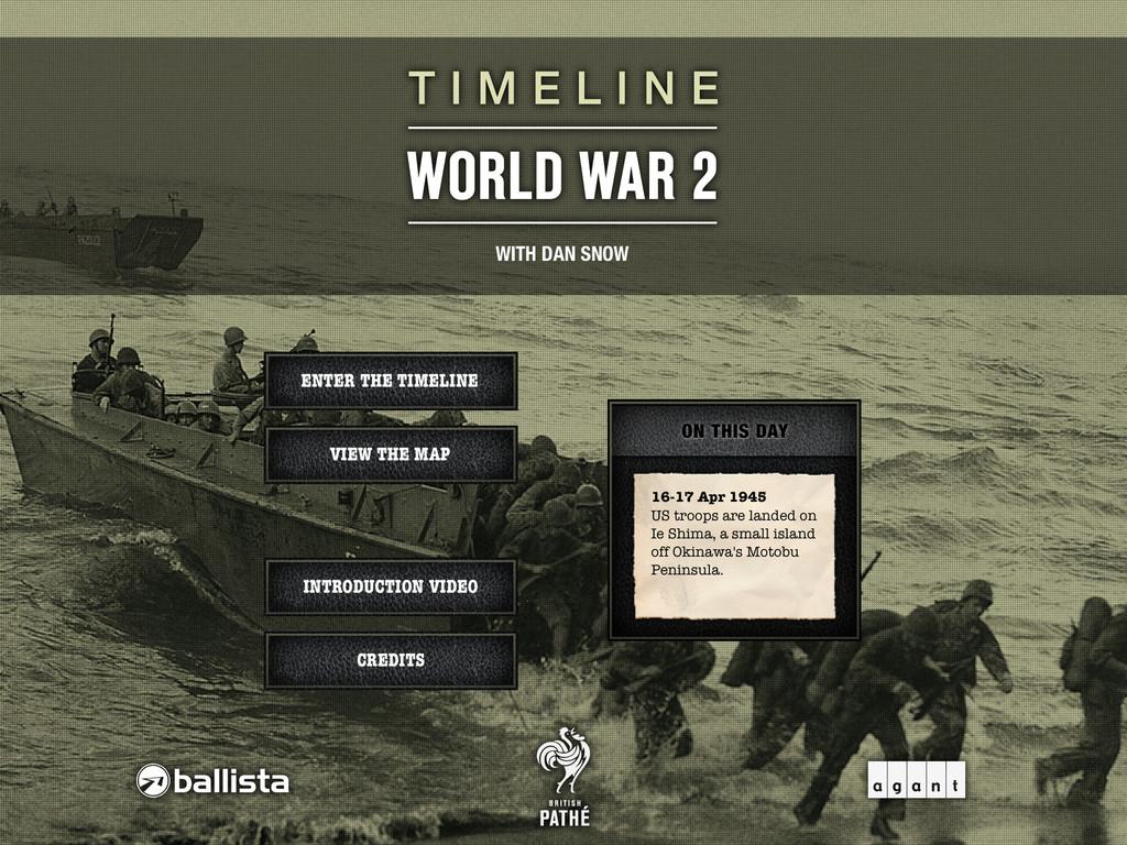Timeline WW2 with Dan Snow App - 1