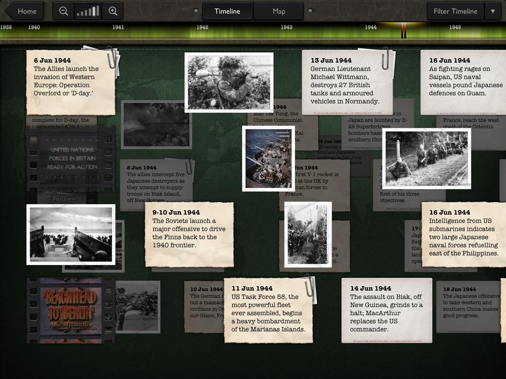 Timeline WW2 with Dan Snow App - 2
