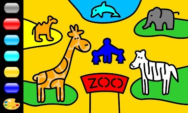 Zebra Paint Coloring App