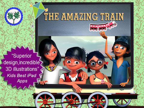 The Amazing Train- Where the adventure comes to life-Full story book 3D App - 5