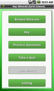 Key: Minerals (Earth Science) App - 1