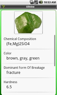 Key: Minerals (Earth Science) App - 3