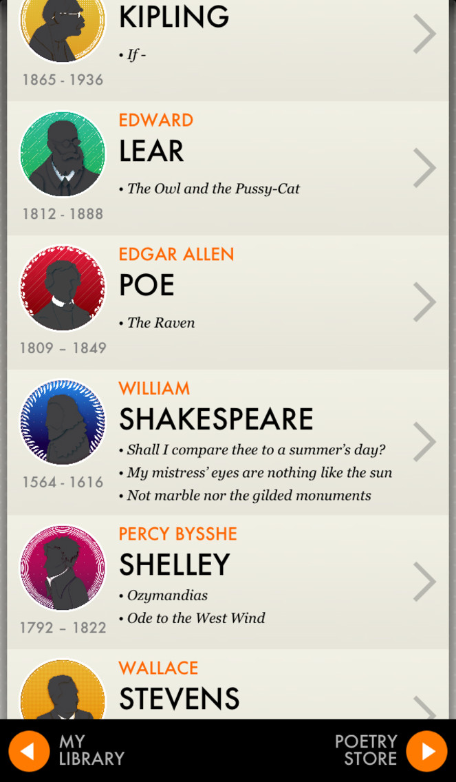 Poems By Heart from Penguin Classics App - 3