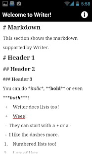 Writer App - 3