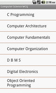 Computer Science MCQ App - 1