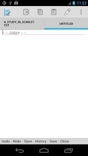 Jota+ (Text Editor) App - 2