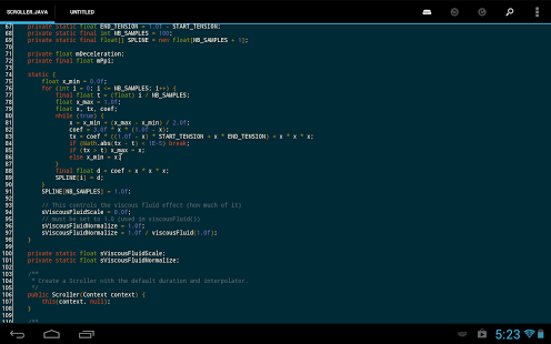DroidEdit (free code editor) App - 2