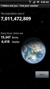 7 Billion and You in the world App - 1