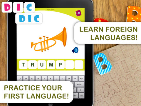 Dic-Dic. Multilingual dictation to practise spelling, writing App - 1