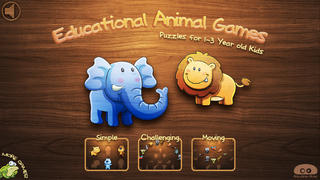 Educational Animal Games - Puzzles for One,Two, & Three Year Old Kids-4
