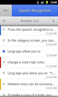 ListNote Speech/Text Notepad