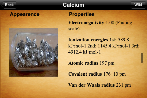 iElements - Periodic Table of The Chemical Elements App - 1