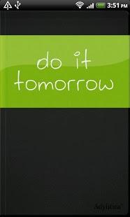 Do it (Tomorrow)-1