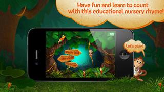 Kids Academy • 5 Little Monkeys - Interactive Nursery Rhyme. Fun music educational app for Baby, Toddlers and Preschool children.-1