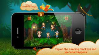 Kids Academy • 5 Little Monkeys - Interactive Nursery Rhyme. Fun music educational app for Baby, Toddlers and Preschool children.-2