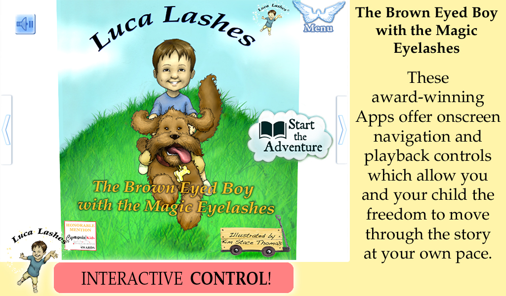 Luca Lashes, the Brown-eyed Boy with the Magic Eyelashes App - 1