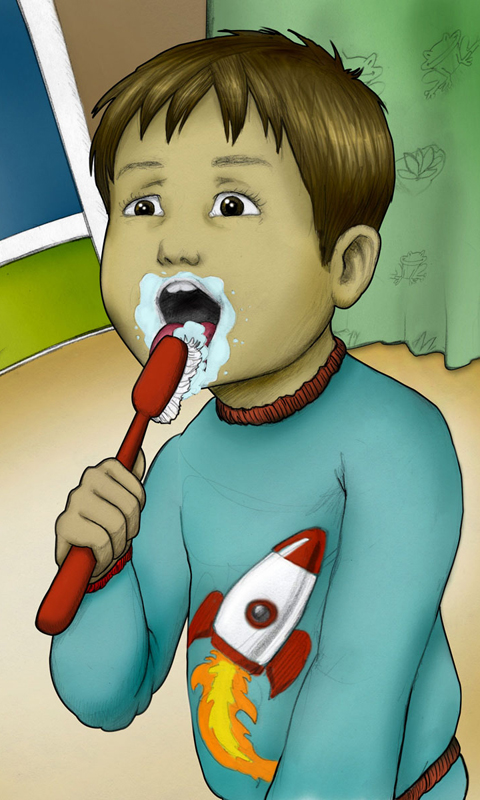 Luca Lashes Learns to Brush His Teeth App - 1
