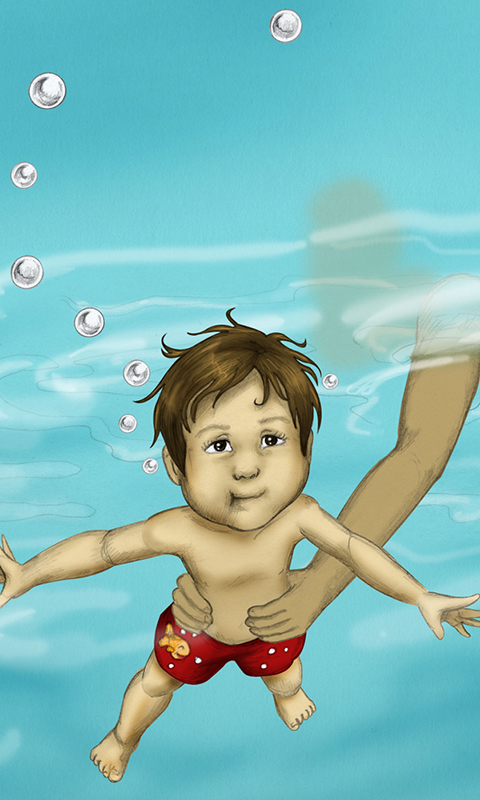 Luca Lashes has his First Swimming Lesson-5