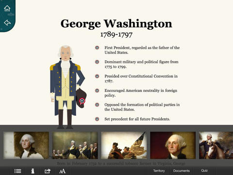 American Presidents for iPad App - 2
