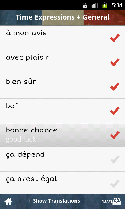 French GCSE Vocab -Edexcel App - 5