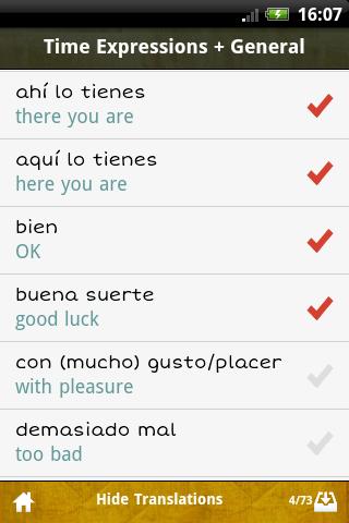 Spanish GCSE Vocab -Edexcel App - 4