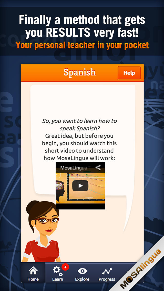 Learn Spanish with MosaLingua-1
