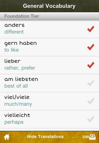 cRaMiT German GCSE Vocab - AQA App - 3