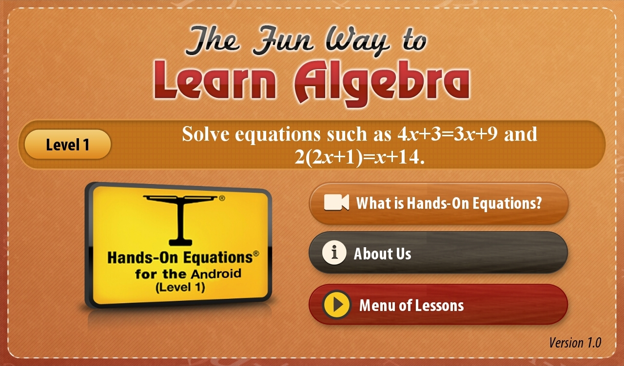 Hands-On Equations 1-1