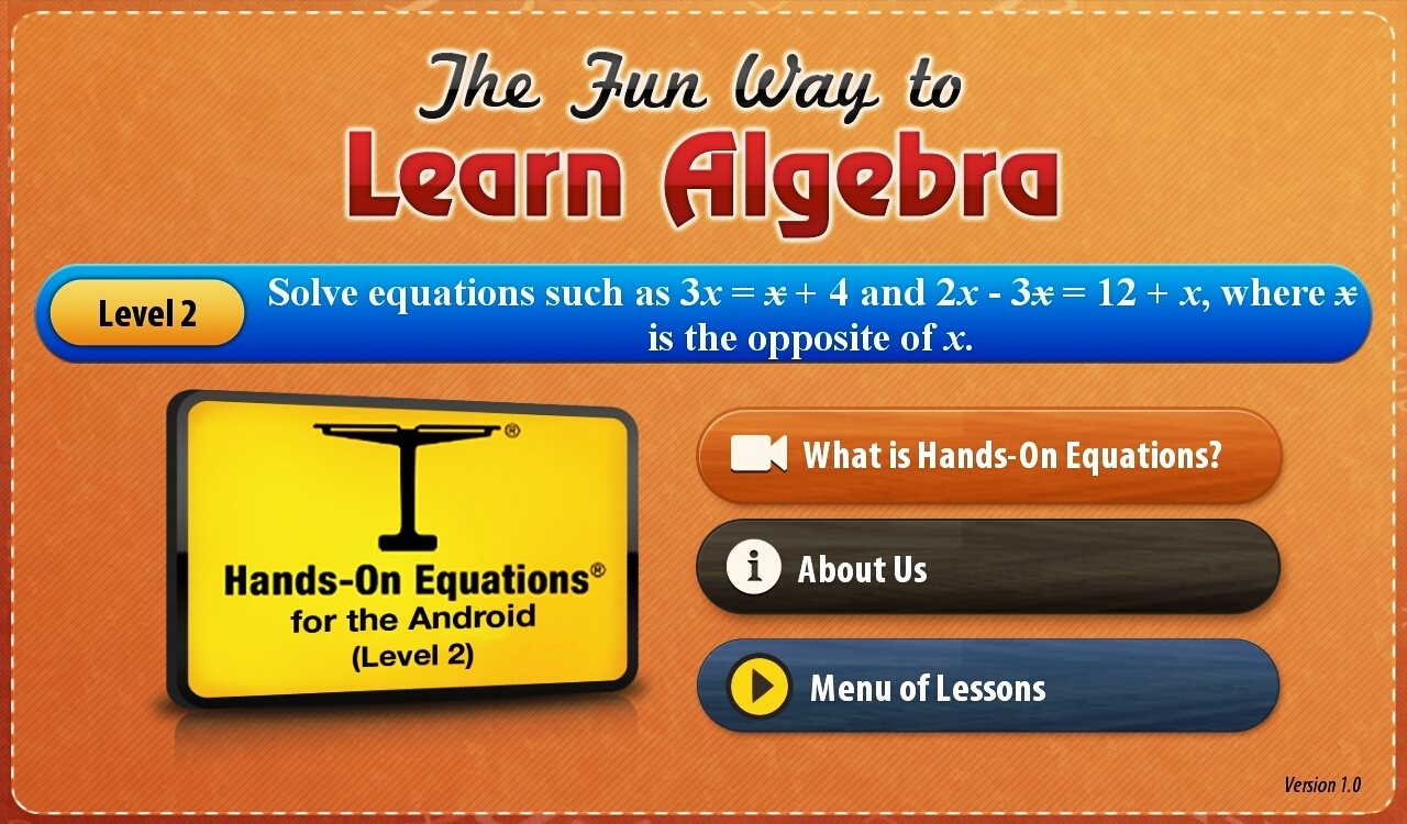 Hands-On Equations 2-1