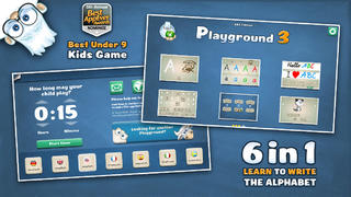 Playground 3 - ABC Edition. The kids app to learn how to read and write letters.-1