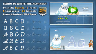Playground 3 - ABC Edition. The kids app to learn how to read and write letters.-4