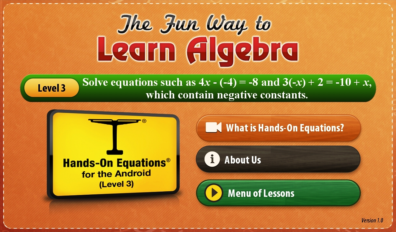 Hands-On Equations 3-1