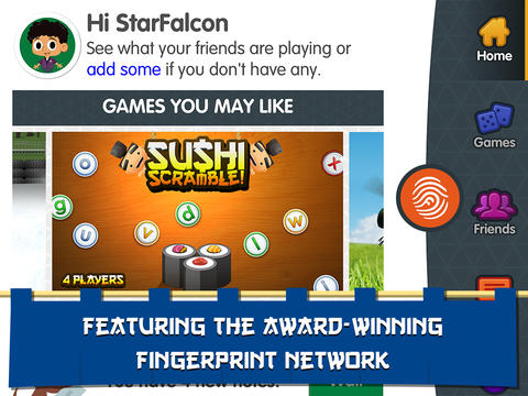Sushi Scramble: Multiplayer Word Game - A Fingerprint Network App App - 5