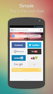 Next Browser for Android App - 1