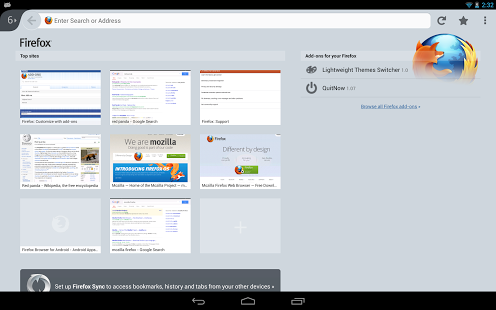 Firefox Browser for Android App - 1