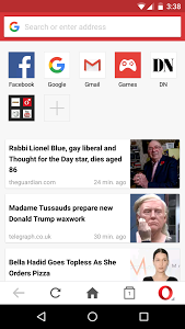 Opera Mini browser for Android-3