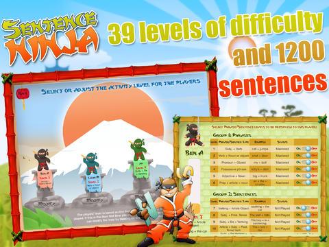 Sentence Ninja App - 3