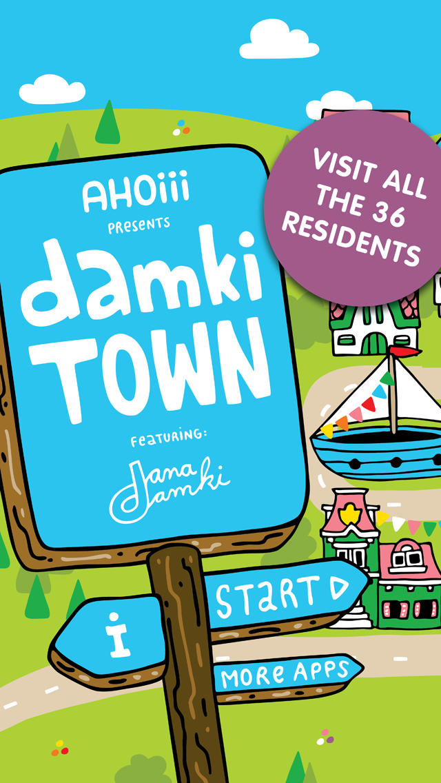 Damki Town – Colouring Book App - 1