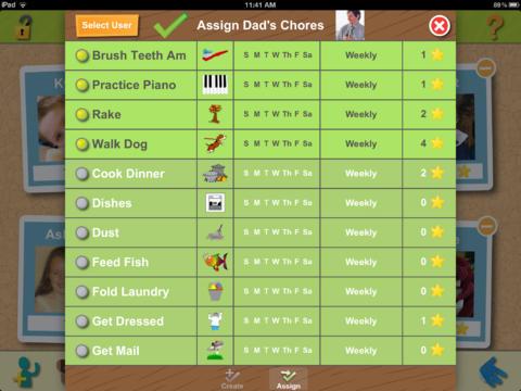 Chore Pad HD App - 2