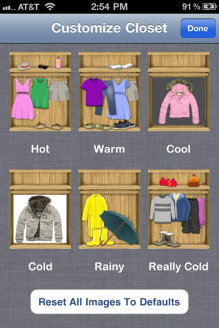 iDress for Weather App - 2