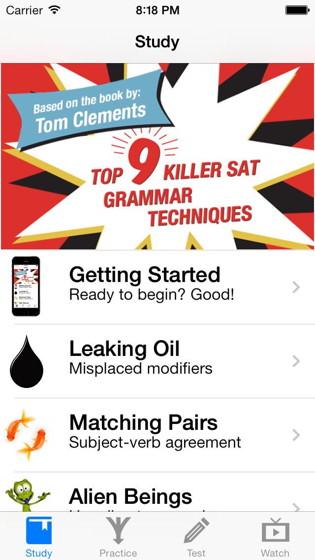 Killer SAT Grammar App - 1