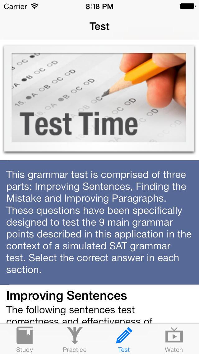 Killer SAT Grammar App - 4